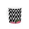 KESS InHouse Camellia by Suzanne Carter 11 oz. Chevron Flower Ceramic Coffee Mug
