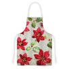 KESS InHouse Poinsettia by Sylvia Cook Holiday Leaves Artistic Apron