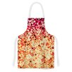 KESS InHouse Flower Power in Orange by Ebi Emporium Floral Artistic Apron