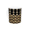 KESS InHouse Deco Angles Gold by Nina May 11 oz. Ceramic Coffee Mug