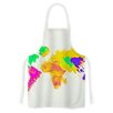 KESS InHouse My World by Oriana Cordero Rainbow Map Artistic Apron