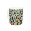 KESS InHouse Colour Blocks by Project M 11 oz. Geometric Rainbow Ceramic Coffee Mug