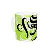 KESS InHouse Simple by Roberlan 11 oz. Lime Ceramic Coffee Mug