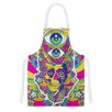 KESS InHouse Skull by Roberlan Rainbow Illustration Artistic Apron