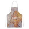 KESS InHouse Roam Map by Sylvia Cook World Artistic Apron