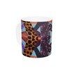 KESS InHouse Pillow Kaleidoscope by Vasare Nar 11 oz. Purple Ceramic Coffee Mug