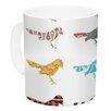 KESS InHouse Birds by Belinda Gillies 11 oz. Ceramic Coffee Mug