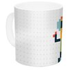 KESS InHouse Happy Robot by Daisy Beatrice 11 oz. Ceramic Coffee Mug