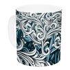 KESS InHouse Celtic Floral II by Nick Atkinson 11 oz. Abstract Ceramic Coffee Mug