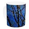 KESS InHouse Holiday Lights by Sylvia Cook 11 oz. Christmas Ceramic Coffee Mug