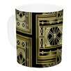 KESS InHouse Golden Art Deco by Nika Martinez 11 oz. Ceramic Coffee Mug