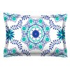 KESS InHouse Let's Dance Blue by Anneline Sophia Cotton Pillow Sham, Aqua