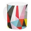 KESS InHouse Mosaik by Fimbis 11 oz. Geometric Ceramic Coffee Mug