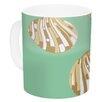KESS InHouse Scallop Shells by Rosie 11 oz. Ceramic Coffee Mug