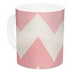 KESS InHouse Sweet Kisses by Catherine McDonald 11 oz. Chevron Ceramic Coffee Mug