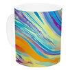 KESS InHouse Rainbow Swirl by Ingrid Beddoes 11 oz. Ceramic Coffee Mug