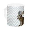 KESS InHouse Hare Today by Suzanne Carter 11 oz. Rabbit Ceramic Coffee Mug