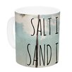 KESS InHouse Salt in the Air by Nastasia Cook 11 oz. Beach Trees Ceramic Coffee Mug