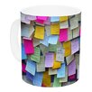 KESS InHouse Respekt by Trebam 11 oz. Rainbow Paper Ceramic Coffee Mug