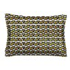 KESS InHouse Aztec Triangles Gold by Pom Graphic Design Yellow Cotton Pillow Sham