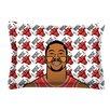 KESS InHouse Derrick Rose by Will Wild Basketball Cotton Pillow Sham
