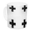 KESS InHouse Swiss Cross by Skye Zambrana 11 oz. Simple Light Ceramic Coffee Mug