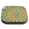 KESS InHouse Here Comes The Sun Coaster (Set of 4)