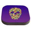 KESS InHouse Jelly Skull Coaster (Set of 4)
