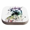 KESS InHouse Predation Instinct Cat Coaster (Set of 4)