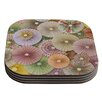 KESS InHouse Spring Pastels Abstract Coaster (Set of 4)