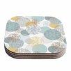 KESS InHouse Floating Circles Design Coaster (Set of 4)