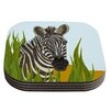 KESS InHouse Zebra Coaster (Set of 4)