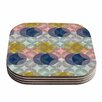 KESS InHouse Retro Spring Coaster (Set of 4)
