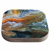 KESS InHouse Geologic Veins Coaster (Set of 4)