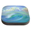 KESS InHouse Jelly Fish Coaster (Set of 4)