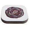 KESS InHouse Cabbage Coaster (Set of 4)