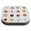 KESS InHouse Fruit Food Coaster (Set of 4)