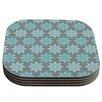 KESS InHouse Blue Christmas Coaster (Set of 4)