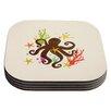 KESS InHouse Friends Around the Sea Octopus Coaster (Set of 4)