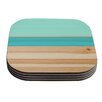KESS InHouse Spring Swatch Coaster (Set of 4)