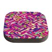 KESS InHouse Colorful Movement Abstract Coaster (Set of 4)