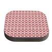 KESS InHouse Pink Motifs Coaster (Set of 4)