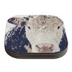 KESS InHouse Snowy Cow Coaster (Set of 4)