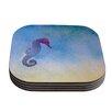 KESS InHouse Seahorse Painting Coaster (Set of 4)