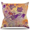 KESS InHouse Levitating Monsters Throw Pillow