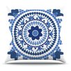 KESS InHouse Bohemian Blues by Carolyn Greifeld Throw Pillow