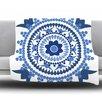 KESS InHouse Bohemian Blues by Carolyn Greifeld Fleece Throw Blanket