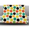 KESS InHouse Retro Dots Repeat by Daisy Beatrice Fleece Throw Blanket