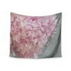 "KESS InHouse ""Pastel Pink Hydrangea Flowers"" by Suzanne Harford Wall Tapestry"
