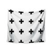 "KESS InHouse ""Swiss Cross White"" by Skye Zambrana Wall Tapestry"